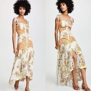 Free People Lover Boy Floral Boho Sleeveless Maxi
